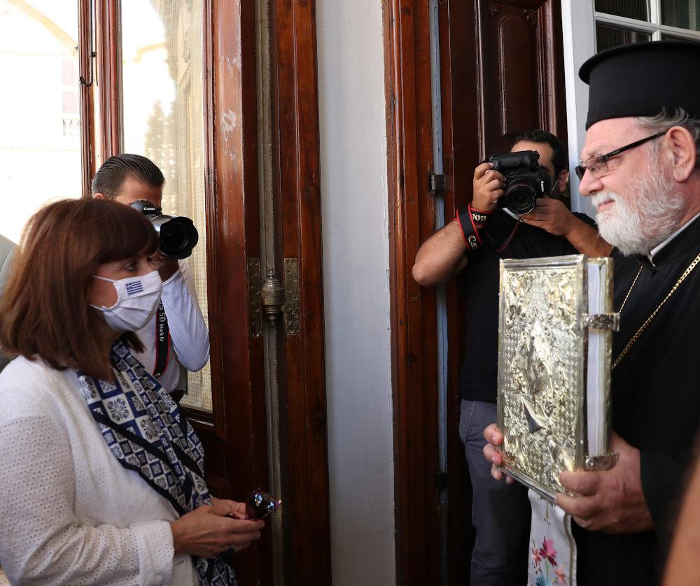 Από την επίσκεψη της Κατερίνας Σακελλαροπούλου στην Κύπρο